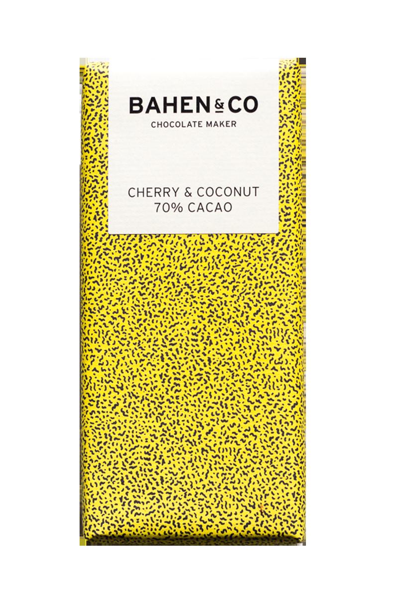 Cherry & Coconut Stone Ground Chocolate Bar