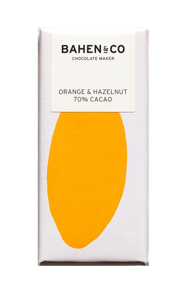 Orange & Hazelnut Stone Ground Chocolate Bar