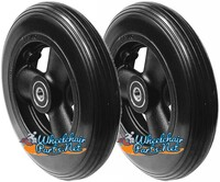 "CW112Q 6 x 1 1/4"" Hollow Spoke Caster Wheel Urethane Rib Tire. Sold as Pairs."