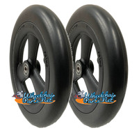 "CW166Q 8 x 1 1/4"" Flat Free Wheel With 1"" Hub Width and 5/16"" Bearings. One Pair"