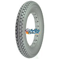 "AL026 12 1/2 x 2 1/4"" Solid Light Gray Knobby Tire. Sold as each."