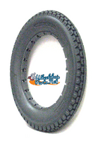 "AL027 12 1/2 x 2 1/4"" Solid Dark Grey Knobby Tire. Sold as each."