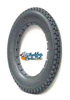 "AL027 12 1/2 x 2 1/4"" Solid Dark Grey Knobby Tire. Sold as each."