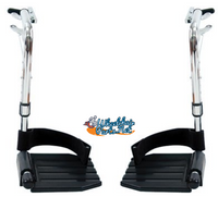"""FR412-1 Set of Footrest with Hemi 1 3/8"""" Pin Spacing. Sold as Pair"""