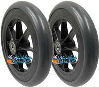 """CW145 - 7"""" x 1"""" Front caster wheel with 5/16"""" bearings and 1 1/2"""" hub length. Sold as Pair"""