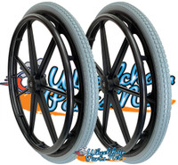 "RW027 24"" x 1 3/8"" Invacare 7 spoke Wheel. Sold as Pair"