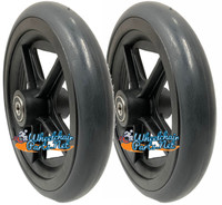 """CW142 7"""" x 1"""" Caster Wheel with 2.05"""" Hub Lenght and 5/16"""" bearings. Sold as Pair"""