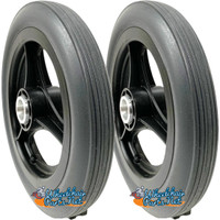 """11.5"""" x 1.5"""" Rear Wheel With 1/2"""" Bearings. Sold as Pair"""