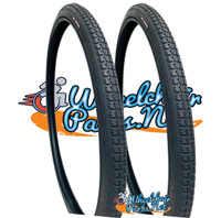 "T044 Black-  24 X 1-3/8"" (37-540)  Non Marking Tire. Sold as Pair"