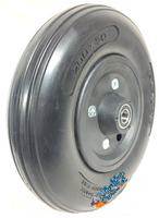 "CWB201 8"" x 2"" Wheel With Solid Urethane Tire (Black color) and 7/16"" Bearings."