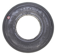 "F020B- 8X2"" (200X50) RIB BLACK COLOR TIRE - NON MARKING"