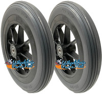 "CW171 8"" x 1 1/4"" Flat Free Wheel With 1 1/2"" Hub and 5/16"" Bearings. OnePair"