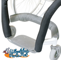 "8"" Front Tube Wheelchair Impact Guard With Open Section For Cross Bar"