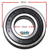 B110P 15mm x 32mm (9/16 x 1 1/4) Precision Bearing