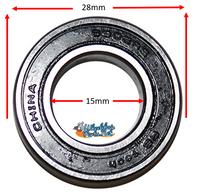 B115P 15mm x 28mm (9/16 x 1 1/8) Precision Bearing