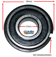 B125P 17mm X 40mm x 12mm Precision Bearing With Retaining Ring