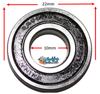 B140P 10mm x 22mm x 6mm Precision Bearings