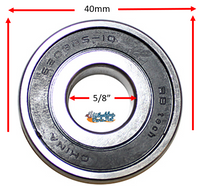 "B145P 40mm x 5/8"" X 12mm Precision Bearing"