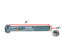 """1/2"""" x 5"""" STANDARD AXLE WITH NYLOCK NUT."""