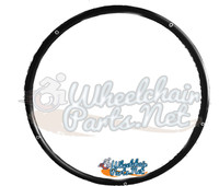 "PR045P - 24"" Black Anodize Pushrim, Fits on X-CORE 5 Spoke Wheel. Sold as pair"