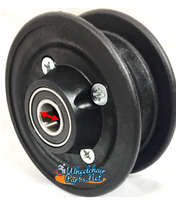 """CW204 8 x 2"""" INVACARE TWO PIECE CASTER WHEEL WITH 7/16"""" & 5/8"""" Bearings. No Tire"""