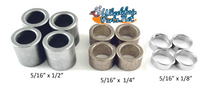 "5/16"" Caster Wheel Spacer Kit, Includes 1/8"", 1/4"" and 1/2"" Spacers"