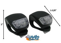 Mini LED Visibility Lights, 1- Front White Light and 1- Red Rear Light