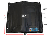 "16"" x 16"" Medline Seat. Black Color"