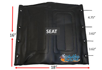 "18"" x 16"" Medline Seat. Black Color"