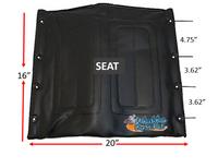 """20"""" x 16"""" Medline Seat. Black Color"""