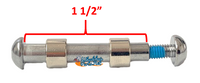 """AX021  Caster Fork Axle, 5/16"""" With Spacers  x 1.5"""". Sold as Pair"""