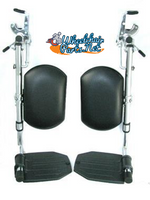"OPEN BOX, SET OF 2 ELEVATING LEG REST  WITH 1 3/8"" PIN SPACING. RP2750412P"