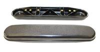 AR071 Black Plastic Armrest, desk length.