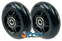 "76mm x 24mm (3""x1"") Black Skate Wheel. Sold as Pair"