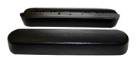 Desk Length Black Urethane Armrests. Part # AR081EP (Pair).