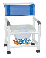 "MJM 22"" Shower Chair With SOFT Seat and W/Commode PAIL. FREE SHIPPING"