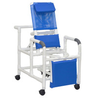 MJM  Reclining Shower Chair With Standard Seat & Elevated Legrest