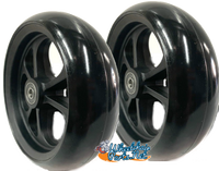 """CW406 5"""" x 1.40"""" Caster Wheel With Composite (nylon) Rim and 5/16"""" Bearings"""