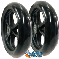 """CW408 6"""" x 1.40"""" Caster Wheel With Composite (nylon) Rim and 5/16"""" Bearings"""