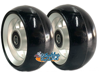 "CW403 4"" x 1.4"" Caster Wheel With Aluminum Rim and 5/16"" Bearings."