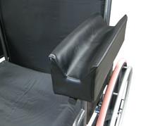"13 1/2"" X 4"" Armrest Pad, Upholstered, Rehab Trough, Black"