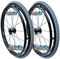 "24"" (540mm) Fusion 16 Rear Spoke Wheel With Primo ALL TERRAIN Tires and Tubes"
