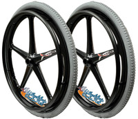 "Set of 2 X-CORE Wheels  24 x 1 3/8"" (540) WITH PRIMO ORION PNEUMATIC TIRES"