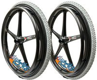 "Set of 2 X-CORE Wheels  24 x 1 3/8"" (25-540) WITH PRIMO ALL Terrain AIR Tires"
