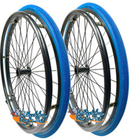 "SET of 2,  24"" (540mm) L20 rim with SHOX Solid Tire in Blue Color"