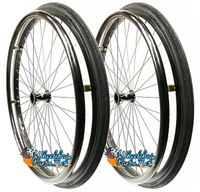 "SET of 2,  24"" (540mm) L20 rim with SHOX Solid Tire in BLACK Color"