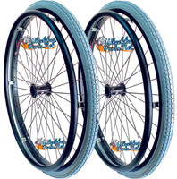 """SET of 2,  24"""" (540mm) L20 Rim With PRIMO ORION AIR TIRES & TUBES. PUSH RIMS"""