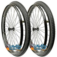 "SET of 2, 24"" (540mm) L20 Rim With Black Street Tread Tire- Solid High Rebound"