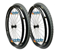 "SET of 2, 24"" (540mm) L20 Rim With PRIMO All Terrain Tire & Air Tube"