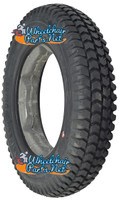 "F085-5 14 X 3"" (3.00-8) KNOBBY FOAM FILLED TIRE WITH STAR KEYWAY INSERT"